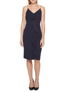 Guess Ruffle-Front Ring-Strap Dress