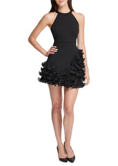 Guess Ruffled A-line Mini Dress