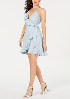 Guess Ruffled Faux-Wrap Dress
