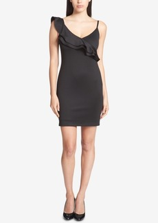 Guess Ruffled Scuba Sheath Dress