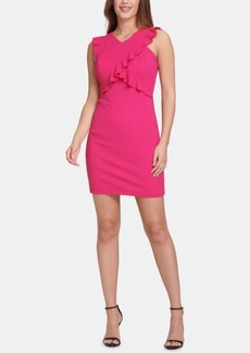 Guess Ruffled Sheath Dress