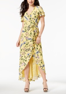Guess Ruffled Tulip-Hem Wrap Dress