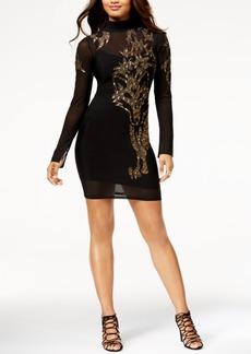 Guess Ryder Embellished Illusion Dress