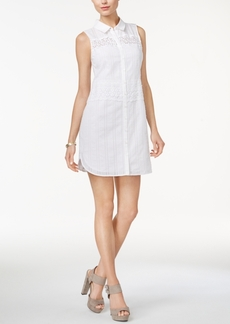 Guess Ryleigh Cotton Mini Shirtdress