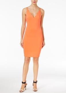 Guess Salina Scallop-Detail Bodycon Dress
