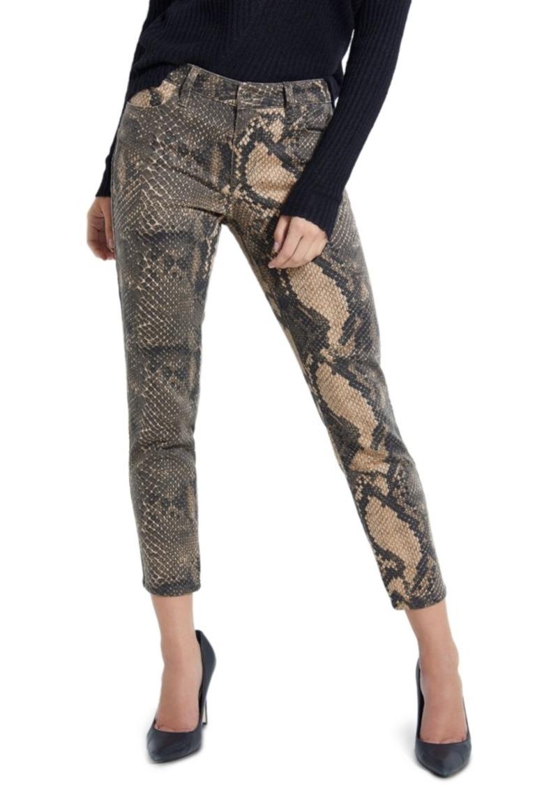 Guess Samara Snake Print Skinny Jeans