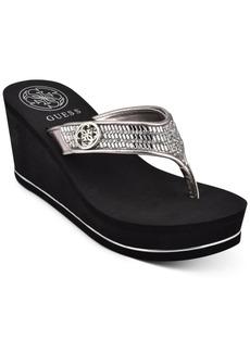 Guess Women's Sarraly Eva Logo Wedge Sandals Women's Shoes