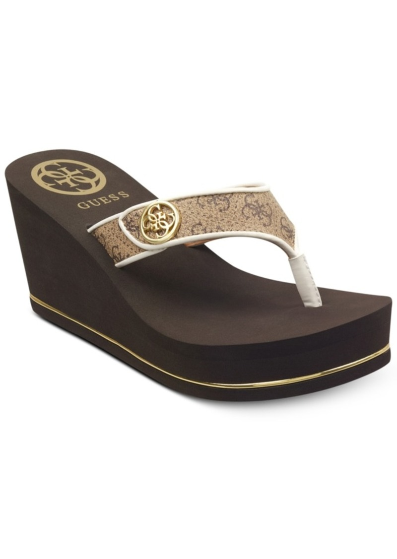 Guess Sarraly Eva Logo Wedge Sandals Women's Shoes