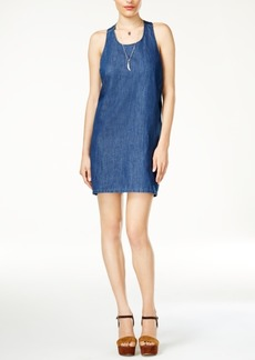 Guess Sasha Denim Bow-Detail Dress