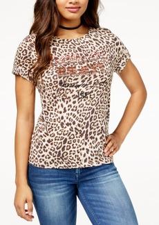 Guess Savage Beast Embellished T-Shirt
