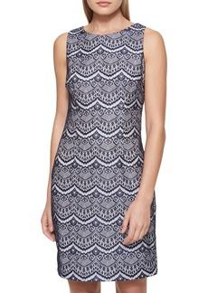 Guess Scalloped Lace Sheath Dress