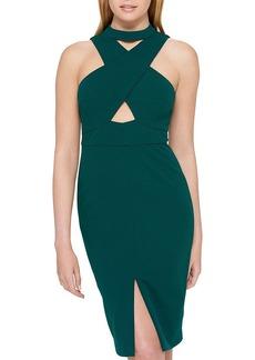 GUESS Selfie Neck Midi Dress