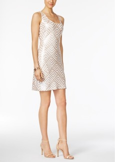 Guess Sequined Geometric Sheath Dress