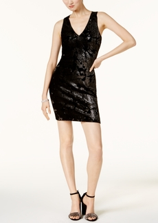 Guess Sequined Velvet Open-Back Dress