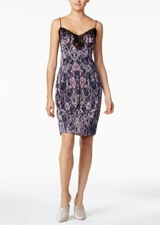 Guess Serena Lace-Trim Printed Slip Dress