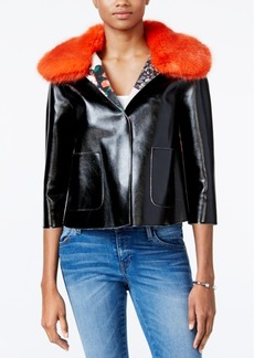 Guess Sermin Faux-Fur-Trim Jacket