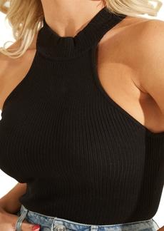 Guess Shea Ribbed Mock-Neck Tank Sweater