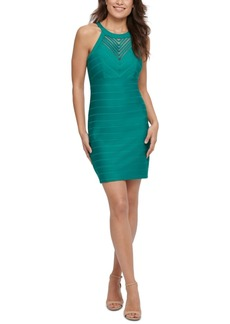 Guess Sheer-Inset Bodycon Dress