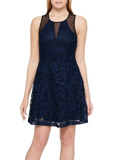GUESS Sheer Lace Front Dress
