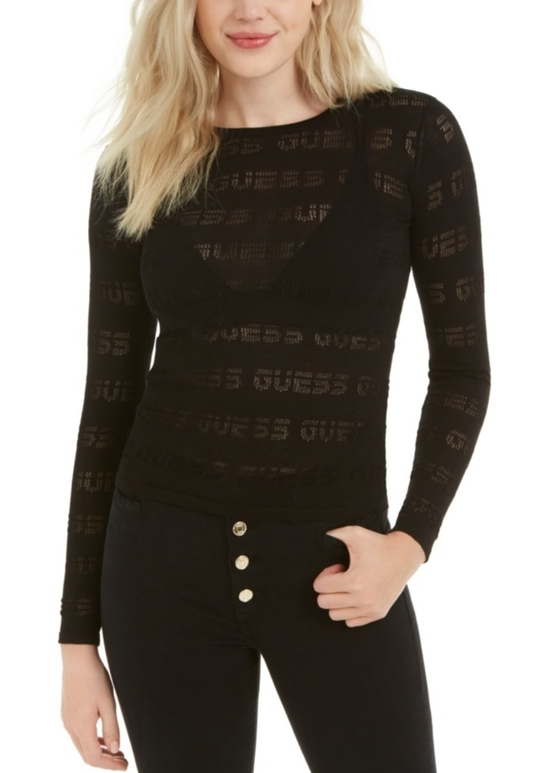 Guess Sheer Sporty Logo Top