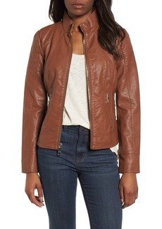 GUESS Side Lace Faux Leather Jacket