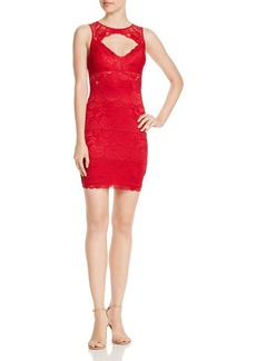GUESS Silvana Sleeveless Lace Cutout Dress