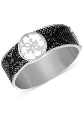 Guess Silver-Tone Lizard Animal Print Bangle Bracelet