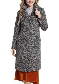 Guess Sisa Cheetah-Print Coat