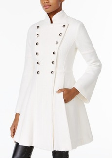 Guess Skirted Double-Breasted Military Coat