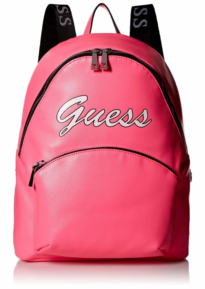 GUESS Skool's Out Neon Large Backpack Pink