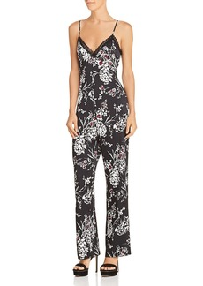 GUESS Sleeveless Floral-Print Jumpsuit
