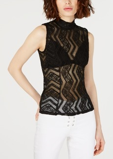 Guess Sleeveless Gamilla Lace Top