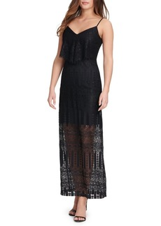 Guess Sleeveless Lace Maxi Dress