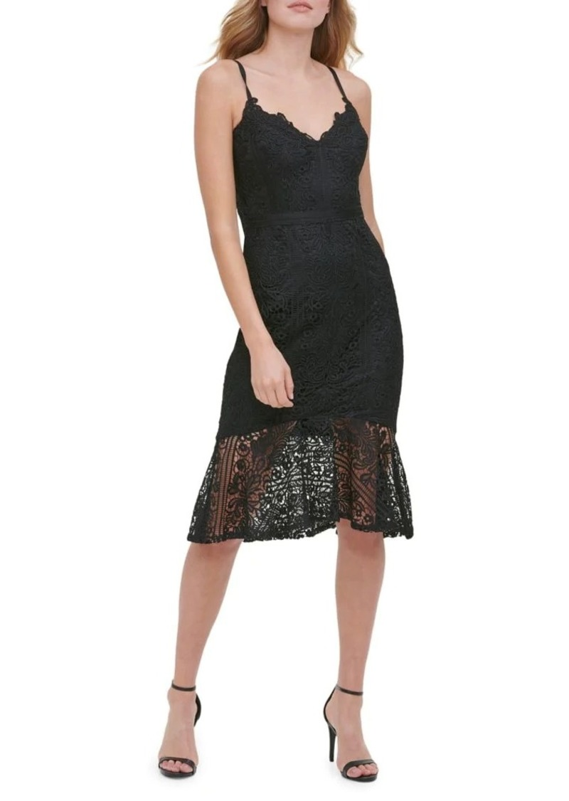 Guess Sleeveless Lace Trumpet Dress