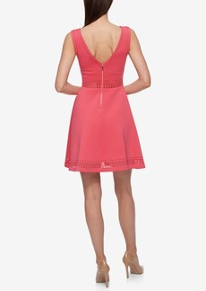 Guess Laser-Cutout Fit & Flare Dress