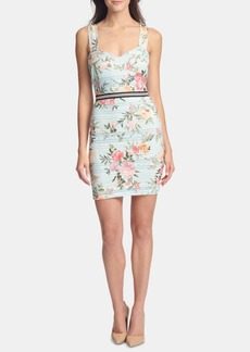 Guess Sleeveless Printed-Lace Sheath Dress