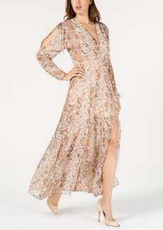 Guess Snake-Embossed Maxi Dress