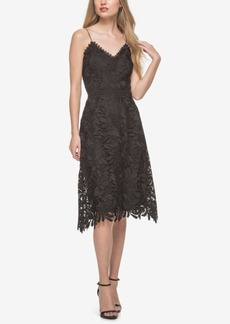 Guess Spaghetti-Strap Lace A-Line Dress