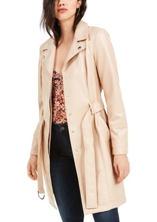 Guess Spinx Faux Leather Trench Coat