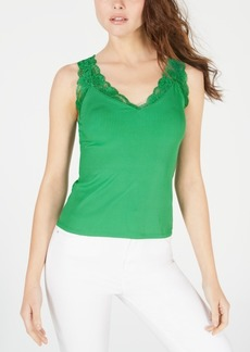 Guess Stacia Lace-Trim Tank Top