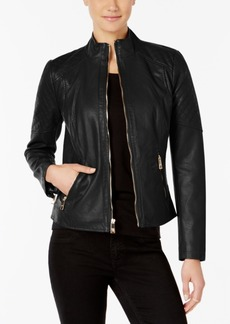 Guess Stand-Collar Faux-Leather Jacket