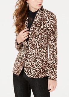 Guess Stefani Leopard-Print Blazer