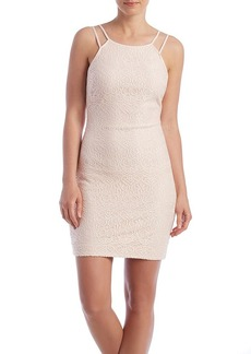 GUESS Strap Lace Sheath Dress