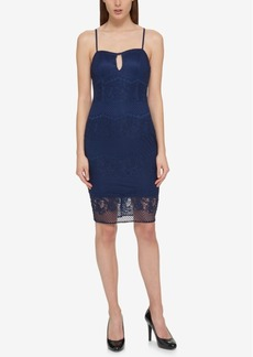 Guess Strappy-Back Lace Sheath Dress