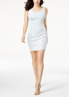 Guess Striped Denim Bodycon Dress