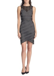 Guess Striped Lace Sheath Dress