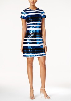 Guess Striped Sequined Sheath Dress