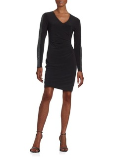 Guess Studded Ruched Dress
