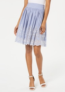 Guess Susan Cotton Eyelet Skirt