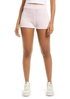GUESS Sweater Knit Cotton Blend Shorts